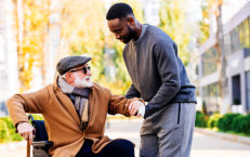 man helping the elder man
